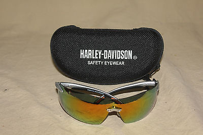 Harley Davidson Hd800 Safety Glasses With Hd903 Case New 6052