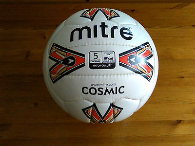 Retro Mitre Cosmic Football Size 5 Grass and Astro Surface Match Ball
