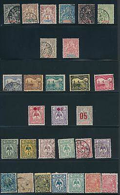 1892 - 1921 New Caledonia (29) EARLY ISSUES; MH & USED; CV $49