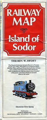 RAILWAY MAP Island of Sodor by The Rev. W. Audry 1983