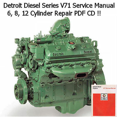 Detroit Diesel Series 71 Shop Manual 8V-71TA 6V-71TA Engine Repair Work PDF CD
