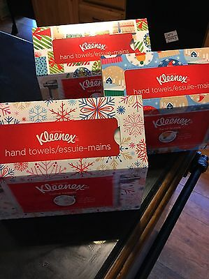 Kleenex White Disposable Hand Towels, Holiday Themed Box, 3 Boxes