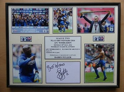 2015-16 AFC Wimbledon Play-Off Winners Display Signed by Barry Fuller (9648)
