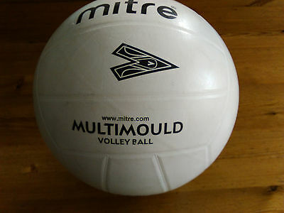 Mitre Multimould Volleyball Size 5 Ball White All Weather/Suface Clubs/Schools