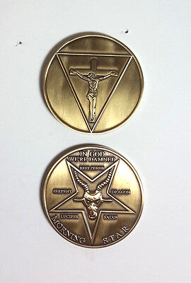 "Lucifer Morning Star TV Series 1.75"" Metal Coin- 2 Sided-FREE S&H(LUCN-01)"