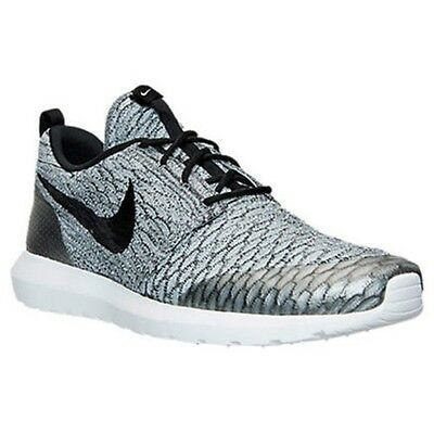 check out 7a4f0 ccc5e Nike Roshe NM Flyknit SE Mens Size 9 Running Shoes Wolf Grey Sneakers  816531 002