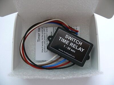 Timer Switch Time Relay 1 to 50 sec 10A Delay On Switch 12V Car Daylights HK1581