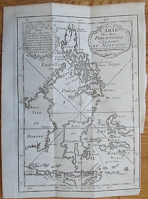 Bellin Original Map Philippines Borneo Sulawesi - 1750x