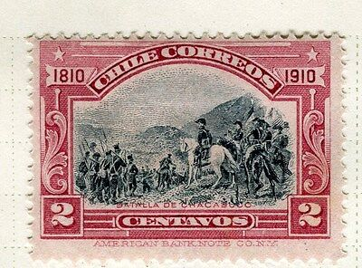 CHILE;  1910 early Centenary issue Mint hinged 2c. value