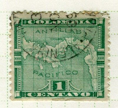PANAMA;  1892 early classic issue fine used 1c. value