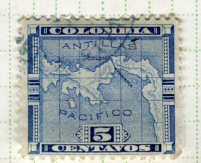 PANAMA;  1892 early classic issue fine used 5c. value