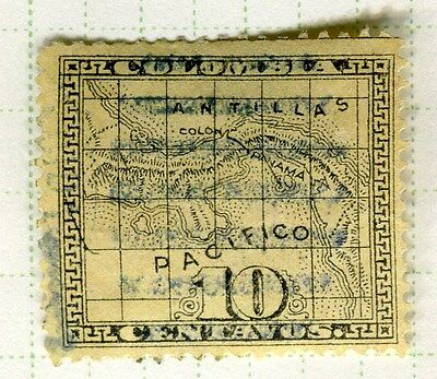 PANAMA;  1887 early classic issue fine used 10c. value