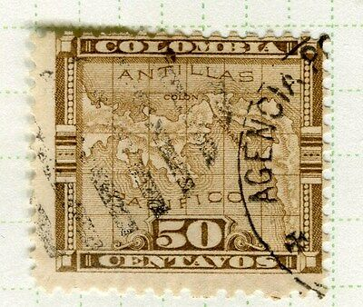 PANAMA;  1892 early classic issue fine used 50c. value