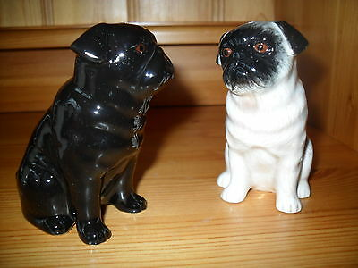 Delightful Pug Ceramic Salt And Pepper Pots By Quail Pottery Boxed Ideal Gift