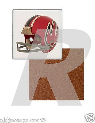 WFL Chicago Fire Helmet Tile Drink Coaster with Cork Back