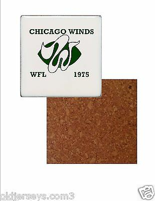 WFL Chicago Winds style 2 Tile Drink Coaster with Cork Back