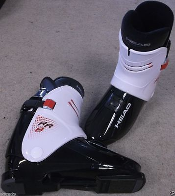 HEAD RR8 BLACK / WHITE REAR ENTRY SKI BOOTS size 28.5