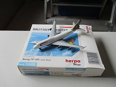 Herpa Wings  511414   British Airways   747-400  South African World Tail livery