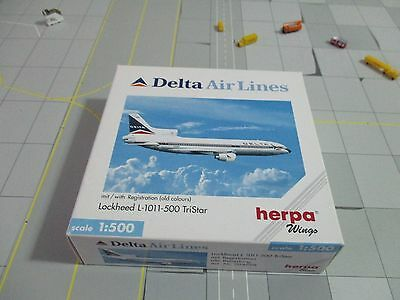Herpa Wings  504898 Delta Air Lines L-1011   Lockheed TriStar