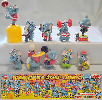 Kinder Surprise Set Funny Fanten At Circus Ferrero Figures Cake Topper +1 Paper
