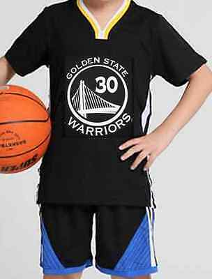 Steph Stephen Curry 30 Kids Boys Youth Basketball Jersey Set Golden State