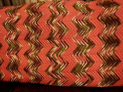Large Handmade Chevron Pink and Camouflage Women's Afghan