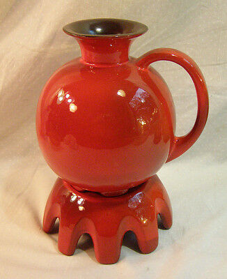 Frankoma Flame Red Carafe, Warmer & 6 Mugs - Very Mid Century  Modern - Ada Clay