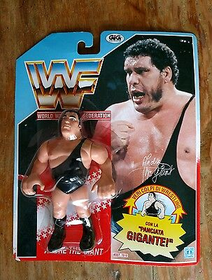 WWF Hasbro Andre The Giant vintage figure Italian Card carded