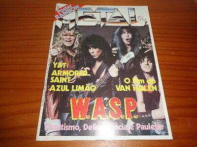 Wasp W.a.s.p. - Magazine Metal N. 14 - 1986 - Poster: Rainbow - Brazil !