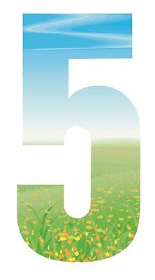 High Visible Meadow Green Grass Wheelie Bin Reflective Numbers Stickers For Cafe