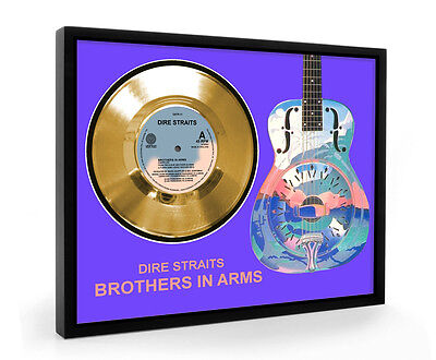 Dire Straits Brothers In Arms Framed Gold Disc Display Vinyl (C1)
