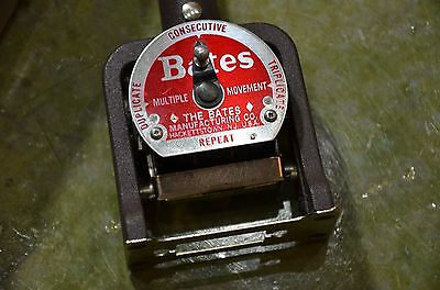 Bates Numbering Machine Numberoteur Vintage Multiple Movement Wheels Style W Box