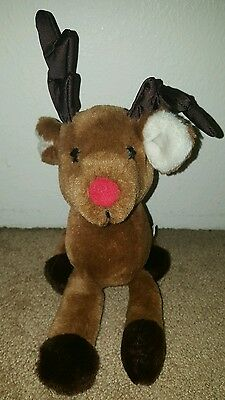 """1984 Dakin RUDOLPH THE RED NOSED REINDEER Plush 11"""" long Christmas"""
