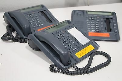 Lot of (3) Aastra Pointspan ITE-760E Display Speaker Phone Anthracite Blue