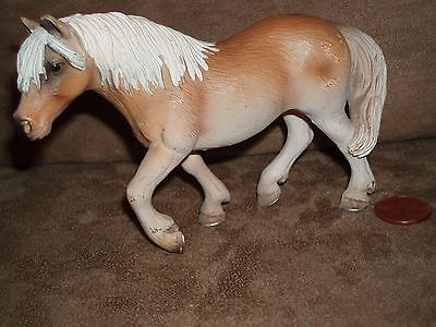 Brown & Tan Percheron Stallion HORSE PVC Figure  Schleich 2005