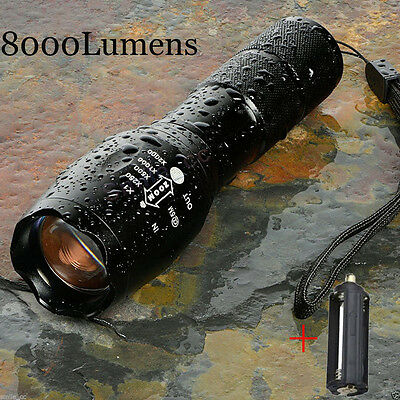 G700 X800 8000Lumen Zoomable XML T6 LED 18650 Flashlight Focus Torch Lamp Light