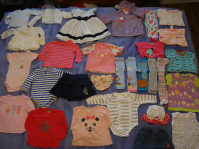 30 items of baby girl clothes size 0 (6-12 months) bulk