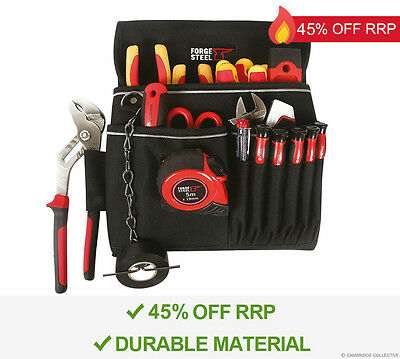 Forge Steel Storage Tool Bag Case Electricians Pouch Holder - New