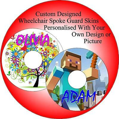 Wheelchair Spoke Guard Skin Personalized with your own picture or design