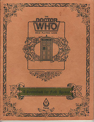 The Doctor Who Role Playing Game  A Sourcebook for Field Agents FASA 1985 Book