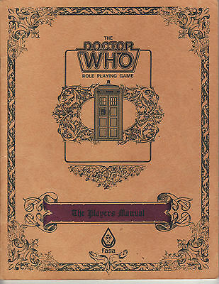 The Doctor Who Role Playing Game The Players Manual FASA 1985 Book