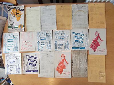 Large Collection of Vintage Cricket Scorecards 40's 50's 60's