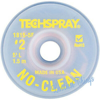 TechSpray 1815-5F No Clean Desoldering Braid, .055 inch, 5ft / 1.5 metres