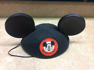 Walt Disney World Mickey Mouse Ears Hat Classic Black Park Authentic MOM stitch