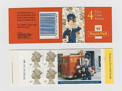GB STAMPS Booklet 2000 HB19 4 First Class Postman Pat Label  with Cylinder No