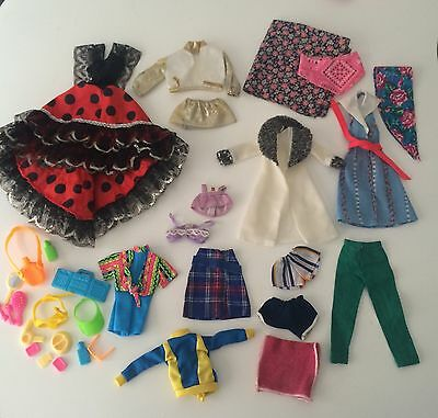 Job Lot Bundle Of Barbie/Sindy Clothes & Accessories Mostly 80s