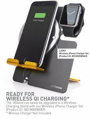 SLEEK MODERN METAL Charger Charging Dock Station For iWatch APPLE iPHONE & WATCH
