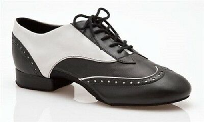 Black and White Capezio travis spectator ballroom/latin dance shoes -size UK 8.5
