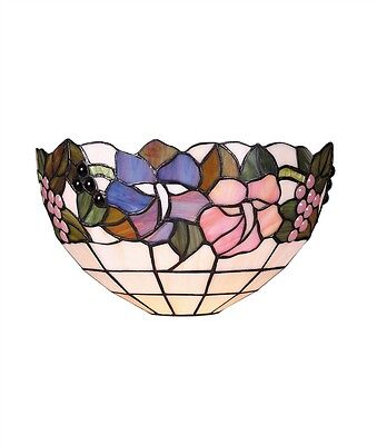 Tiffany Stained Glass Lily Design Wall Uplighter Bedroom Lounge Lamp Light