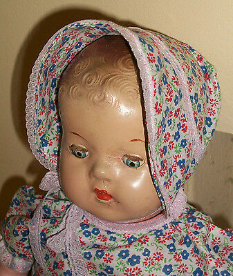 """Vintage 1930s Reliable Composition Doll 18"""""""